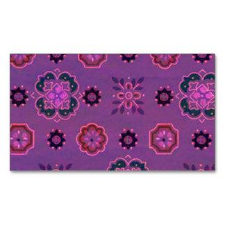 Retro Rockabilly Vintage Bandanna Purple Business Card Magnet