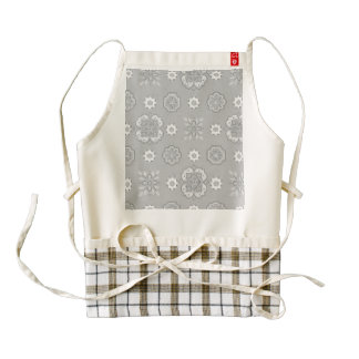 Retro Rockabilly Vintage Bandanna Silver Zazzle HEART Apron