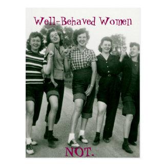 Retro/Rockabilly women postcard