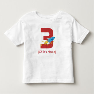 Retro Rocket Birthday Toddler T-shirt