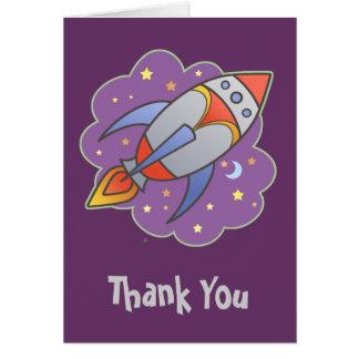 Retro Rocket Card
