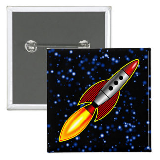 Retro Rocket - Customized Buttons