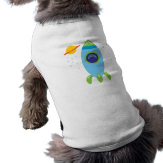 Retro Rocket Doggie T Shirt