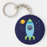 Retro Rocket Keychains