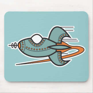 retro rocket mouse pad