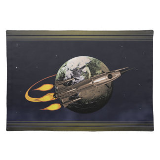 Retro Rocket Placemat