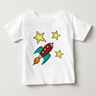 retro rocket ship baby t-shirt