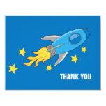 Retro Rocket Ship Thank You Card