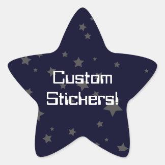 Retro Rocket Stars Star Sticker
