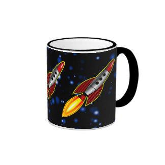 Retro Rockets - Customized Ringer Mug