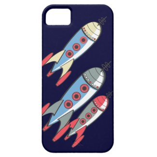 Retro Rockets Times Three iPhone 5 Cover