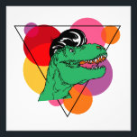 "Retro Rockin&#39; T-Rex (guy) Photo Print<br><div class=""desc"">Funky abstract wall art featuring a t-rex with a 50&#39;s pompadour hairstyle</div>"
