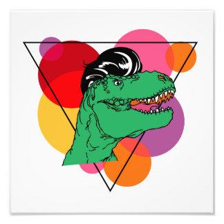 Retro Rockin' T-Rex (guy) Photo Print