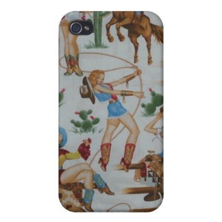 Retro Rodeo Cowgirls Speck Case iPhone 4 Cases For iPhone 4
