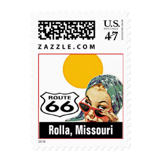 Retro Rolla Missouri Travel Route 66 Vintage Postage