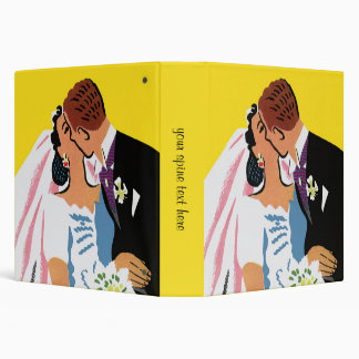 Retro Romance! You May Now Kiss the Bride! 3 Ring Binders