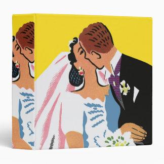 Retro Romance! You May Now Kiss the Bride! Vinyl Binder