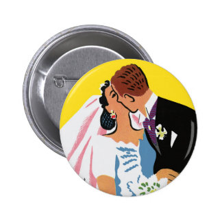 Retro Romance! You May Now Kiss the Bride! Button