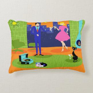 Retro Romantic Evening Couple Accent Pillow