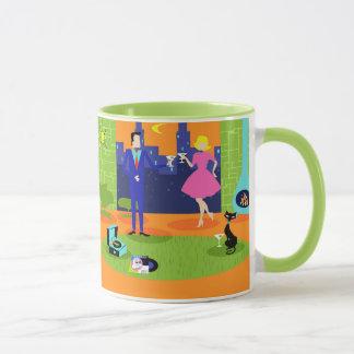 Retro Romantic Evening Couple Mug