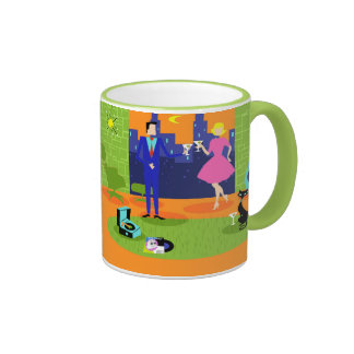Retro Romantic Evening Couple Mug