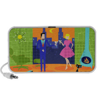 Retro Romantic Evening Couple Portable Speaker