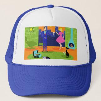 Retro Romantic Evening Couple Trucker Hat