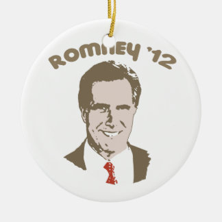RETRO ROMNEY '12 Double-Sided CERAMIC ROUND CHRISTMAS ORNAMENT