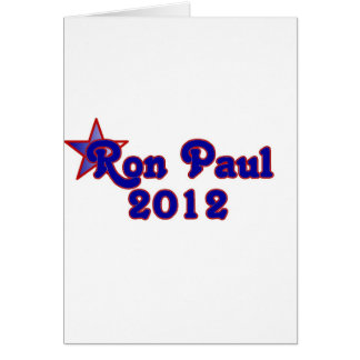 Retro Ron Paul 2012 Greeting Cards