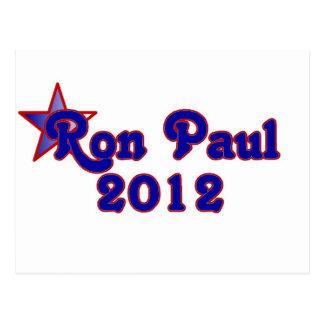 Retro Ron Paul 2012 Postcard