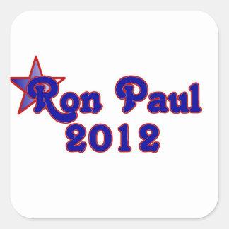 Retro Ron Paul 2012 Square Sticker