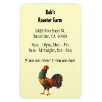 Retro Rooster Custom Advertising Magnet