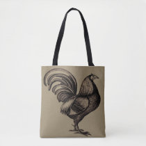 Retro Rooster Tote Bag