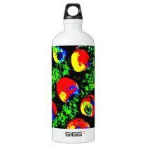 Retro Rop Art Aluminum Water Bottle