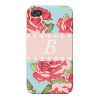 Retro Roses 1 iPhone 4 Cases