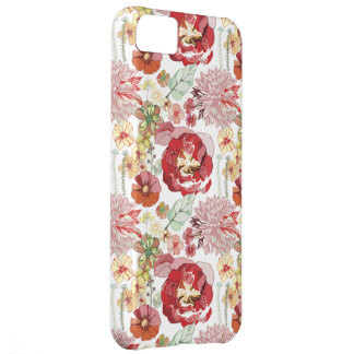 retro roses abstract chysanthemums iphone 5 case