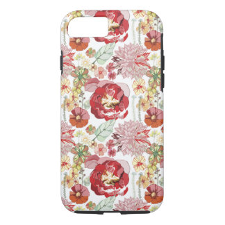 retro roses abstract chysanthemums iPhone 7 case