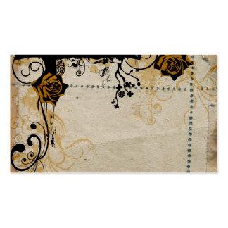 Retro roses Profile Card Business Card Templates