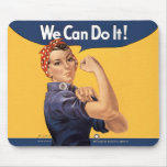 Retro Rosie We Can Do It Mousepad