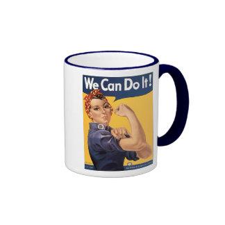 Retro Rosie We Can Do It Coffee Mugs