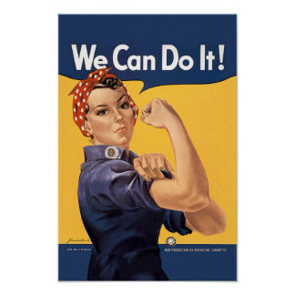 Retro Rosie We Can Do It Poster