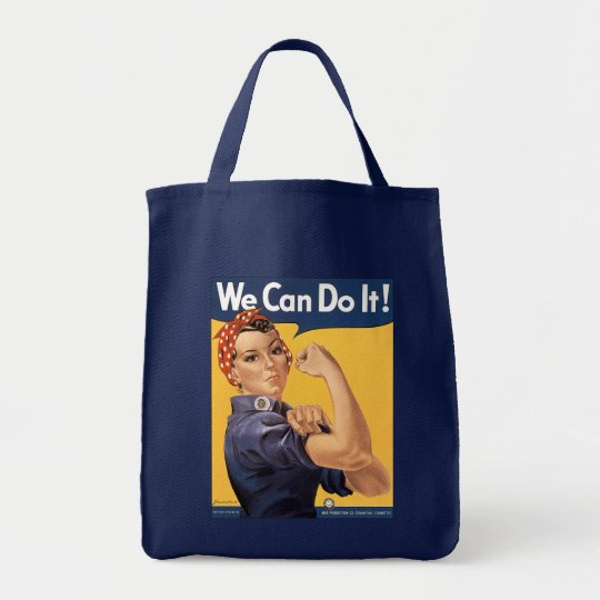 Retro Rosie We Can Do It Tote Bag
