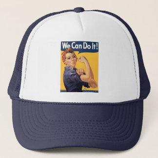 Retro Rosie We Can Do It Trucker Hat