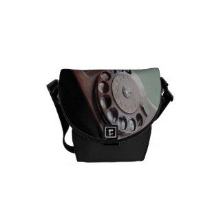 Retro Rotary Dial Phone Vintage Design Messenger Bag