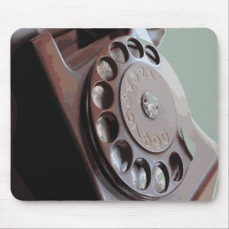 Retro Rotary Dial Phone Vintage Design Mousepads