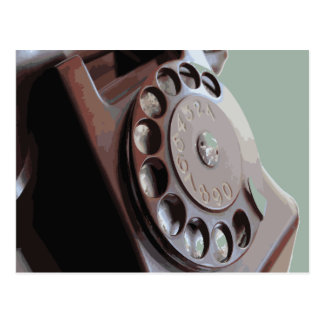 Retro Rotary Dial Phone Vintage Design Postcard