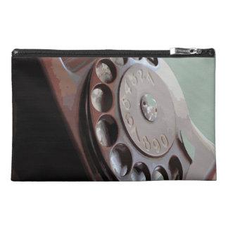 Retro Rotary Dial Phone Vintage Design Travel Accessory Bag