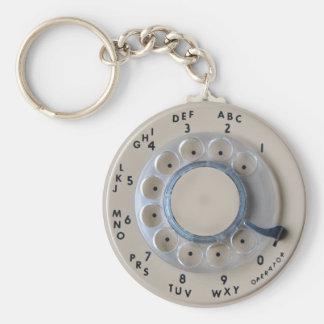 Retro Rotary Phone Dial Key Chains