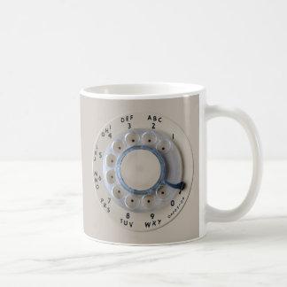 Retro Rotary Phone Dial Classic White Coffee Mug
