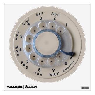 Retro Rotary Phone Dial Wall Sticker